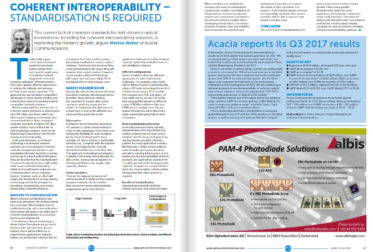 Optical Connections – Coherent Interoperability: Standardization is Required