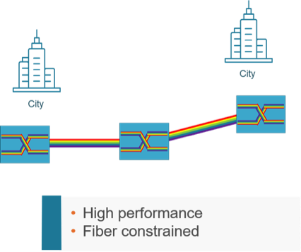 Typical Long Haul network