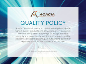 Acacia Quality Policy