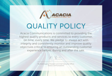 Acacia Achieves ISO 9001:2015 Certification