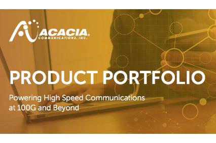 Acacia Product Portfolio Brochure