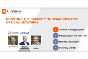 Webinar Replay: Boosting the Capacity of Disaggregated Optical Networks